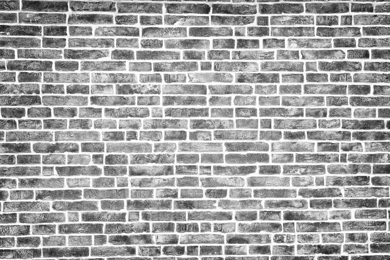 Black and white brick texture, background - Custom Wallpaper