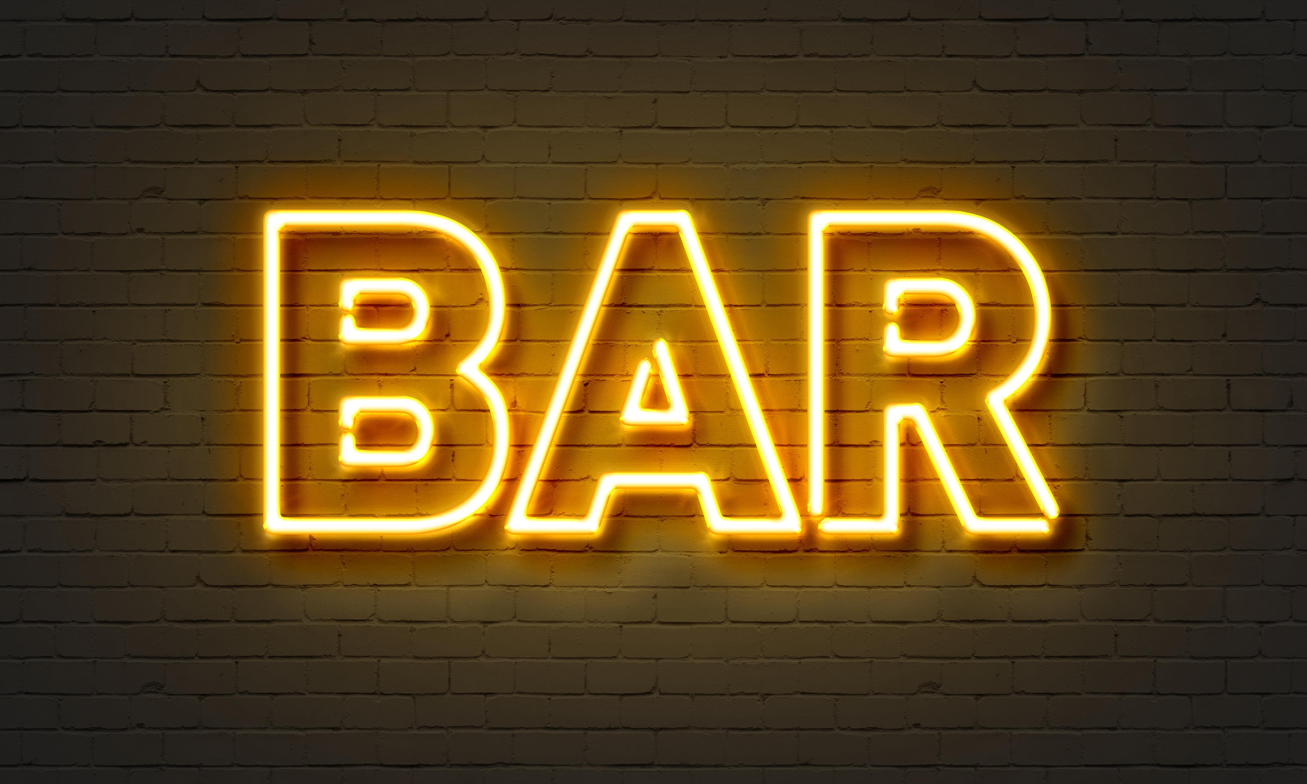 Bar neon sign - Custom Wallpaper