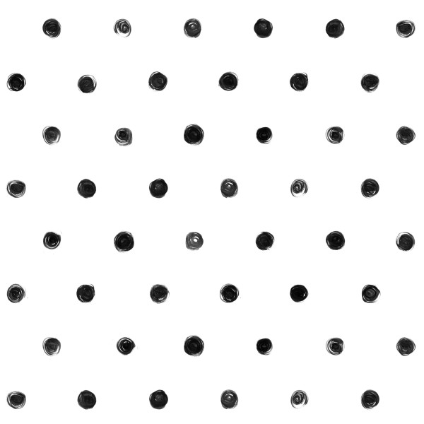 Black And White Polka Dot Pattern Custom Wallpaper