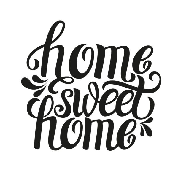 home sweet home typography custom wallpaper. Black Bedroom Furniture Sets. Home Design Ideas