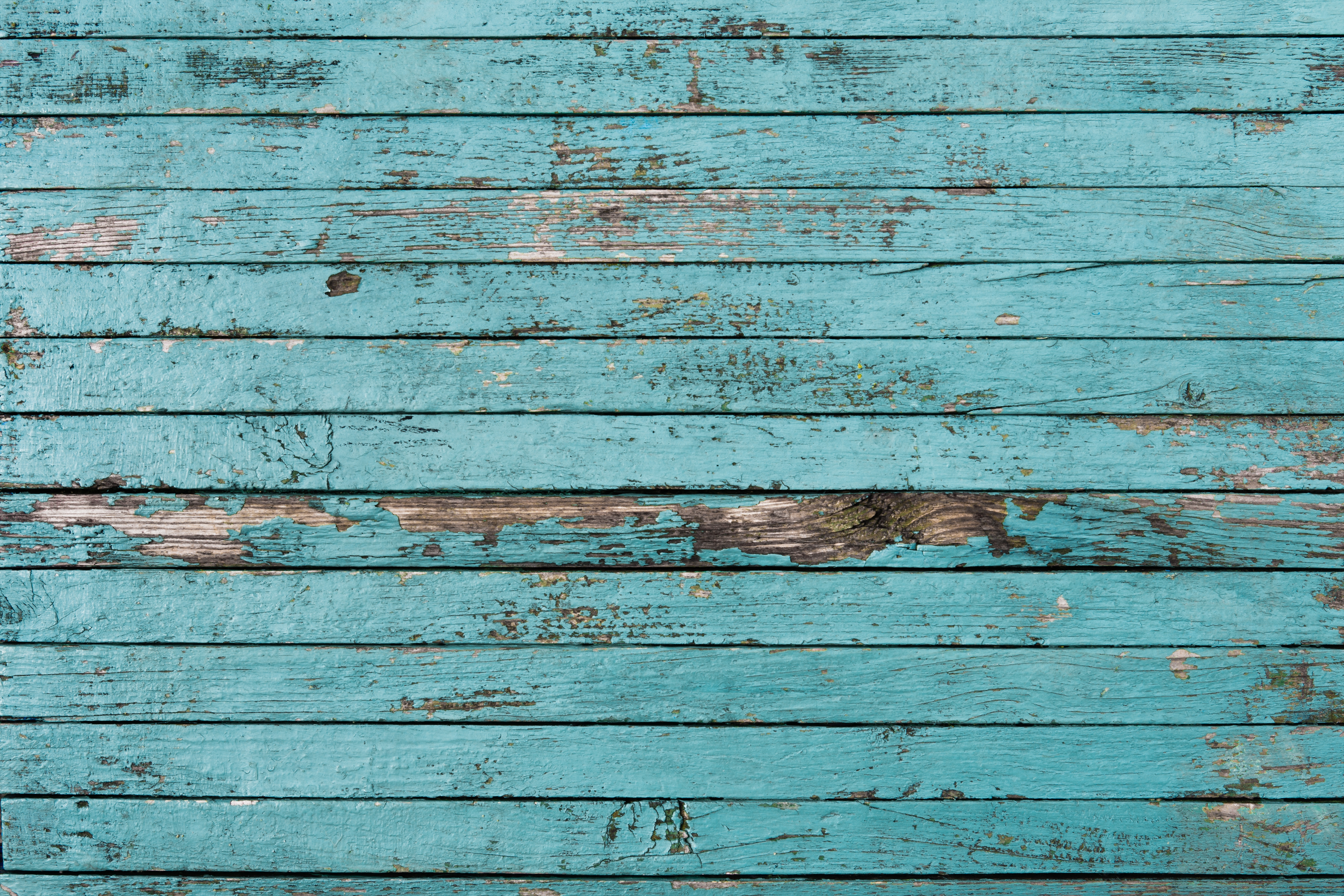old, painted, blue boards