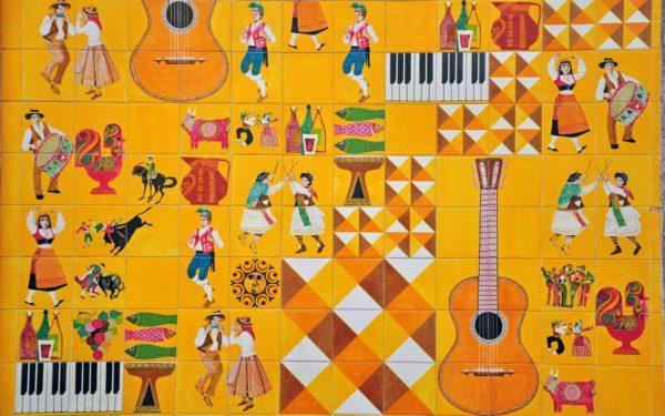 Portuguese Culture In Azulejos Custom Wallpaper
