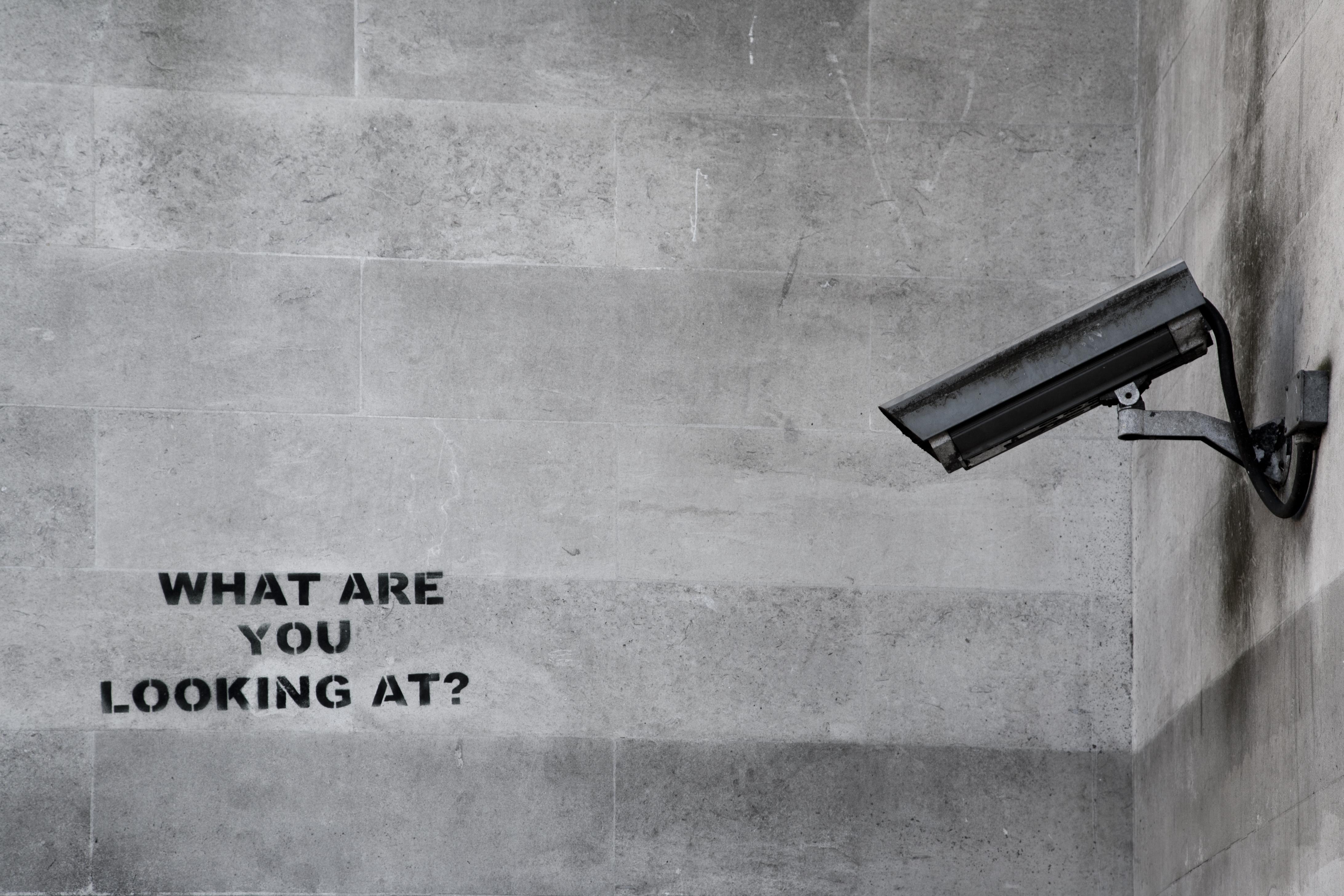 Creative Wall Murals Famous Banksy Cctv Graffiti Custom Wallpaper