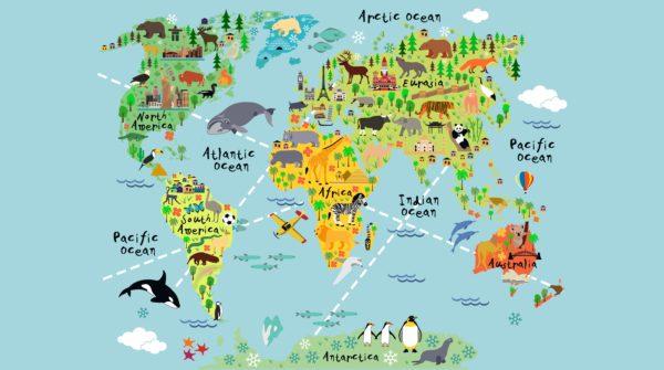 Cartoon world map custom wallpaper cartoon world map gumiabroncs Choice Image