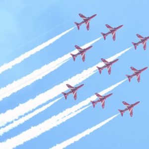 Red arrows air