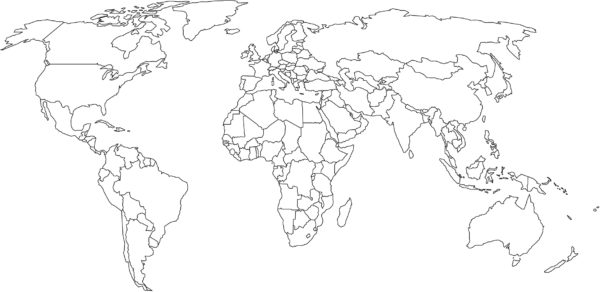 World Map Colour In Colouring In Custom Wallpaper - World map no colour