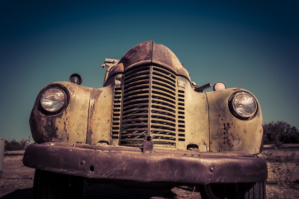 Vintage abandoned old rusty  truck