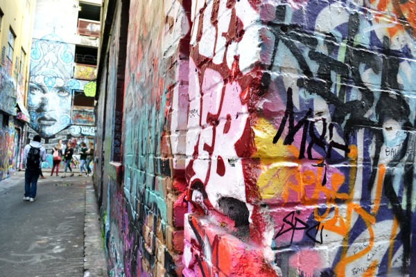 street art and graffiti in the Melbourne city
