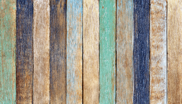 Colorful Wooden Plank
