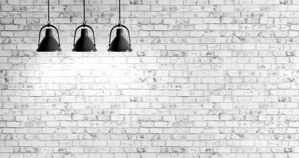 Brick wall with lamps background
