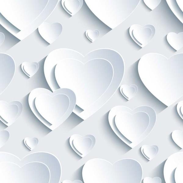 3D Hearts 5497