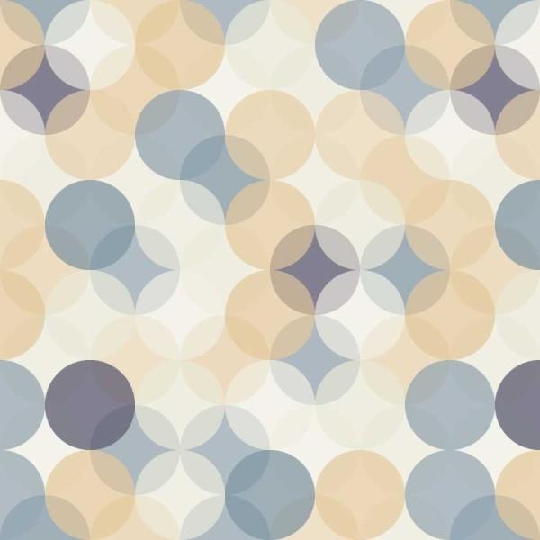 Geometric Retro Circles 8105