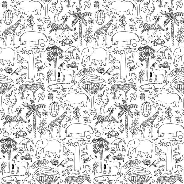 Hand-drawn-Africa-seamless-pattern