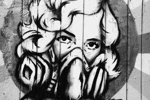 Lady of London, Shoreditch Graffiti