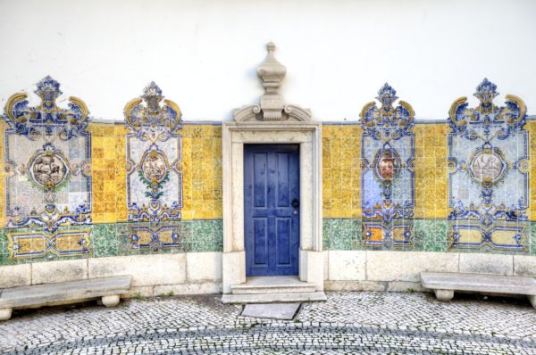 Lisbon Square with Tile Art