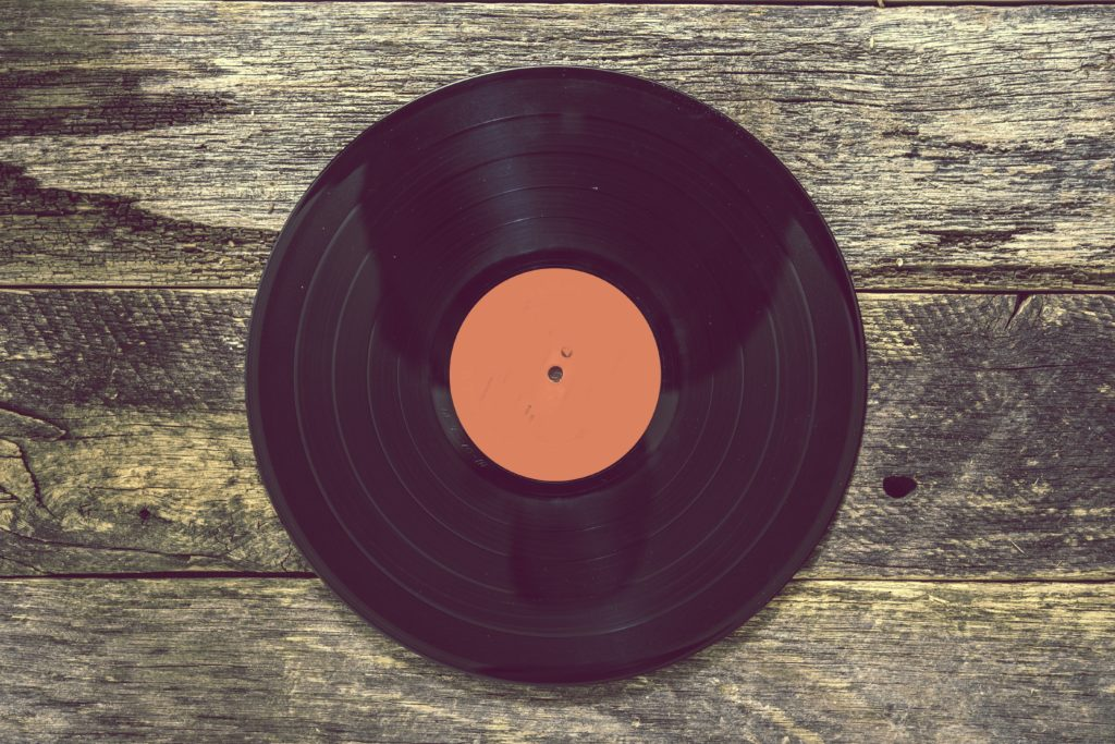 Vintage Vinyl Record Custom Wallpaper