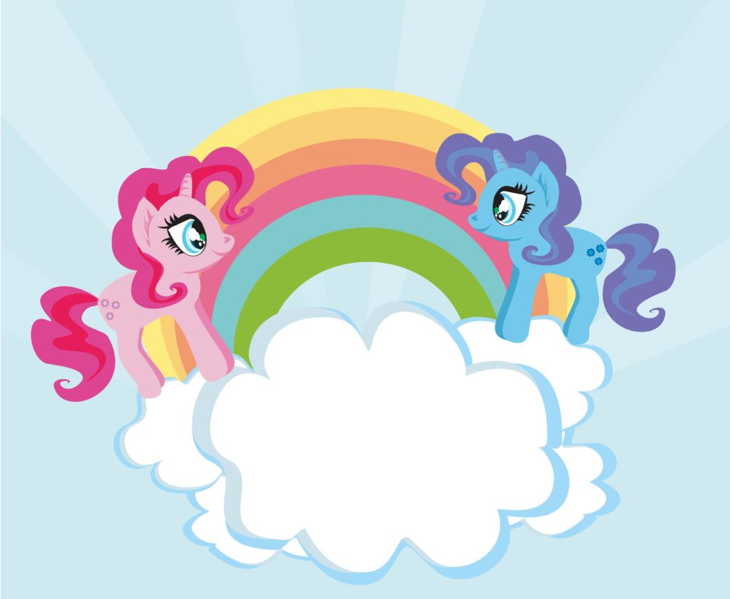 Cute Unicorns And Rainbow Custom Wallpaper