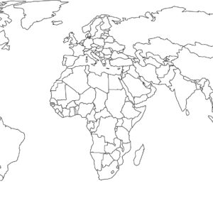 World Map colour