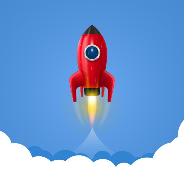 Space Rocket Launch Easy Lift Off Wallpaper Custom