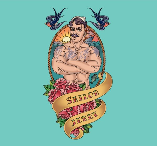 Sailor Jerry tattoo vector removable