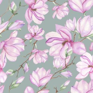 Magnolia floral pattern